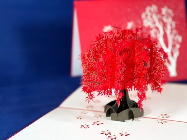 Tian's Gifts: 'Red Tree' Pop-up Card