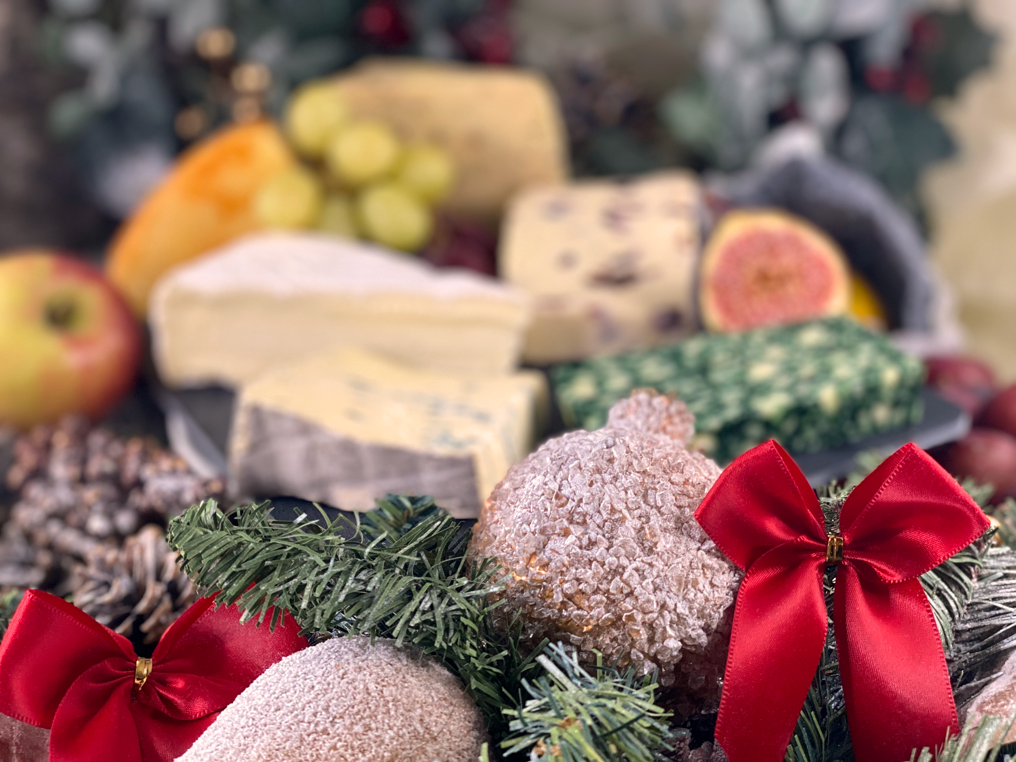 Matthews Cheese: Christmas Cheese Selection on Slate