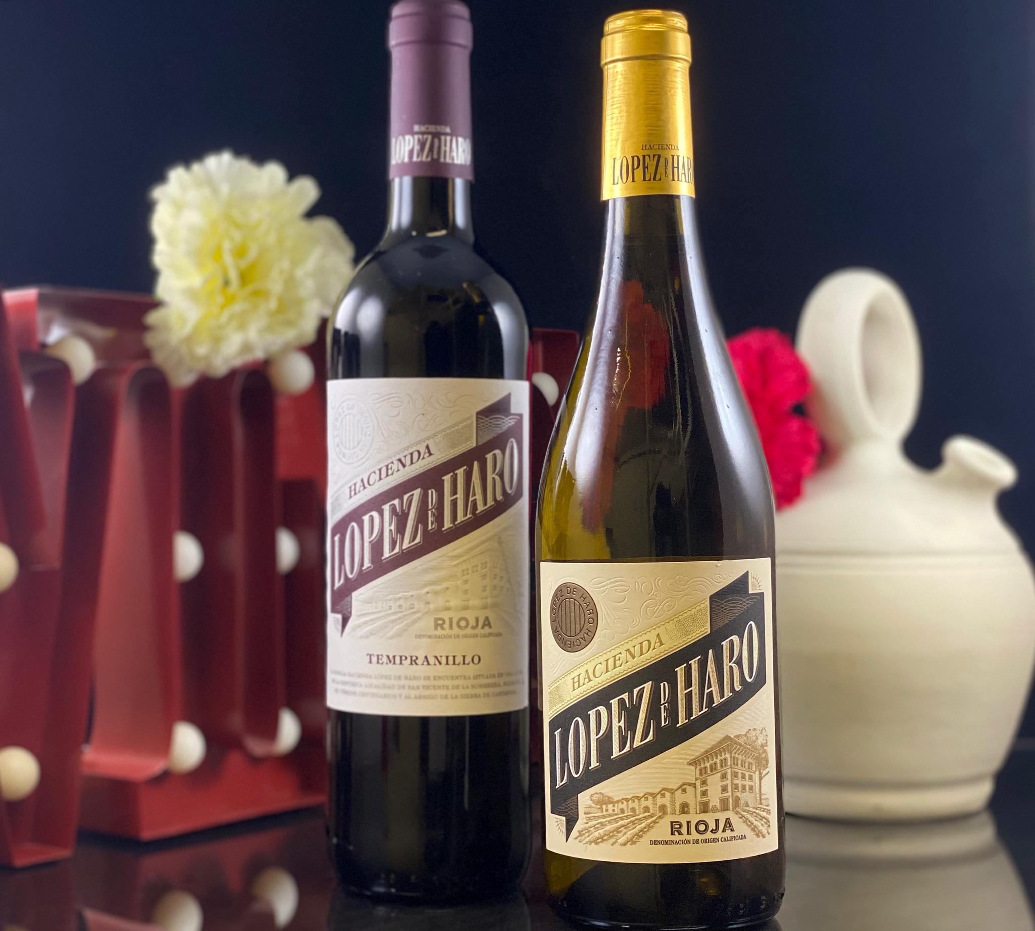 La Casa - Lopez De Haro (Red And White Bottles)