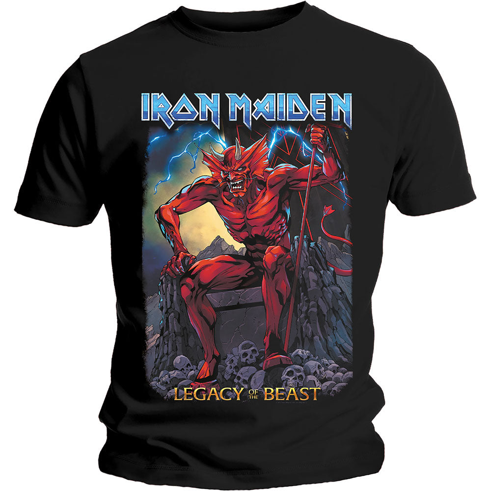 Iron Maiden Unisex Tee: Legacy of the Beast 2 Devil