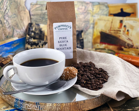 Pumphreys : Pure Kenyan Blue Mountain -  Ground Coffee ( For Percolators & cafetière)