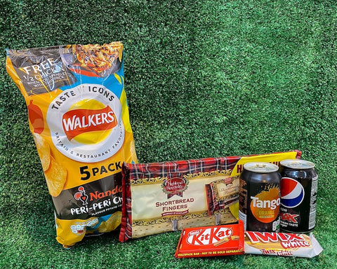 Treat box - Crisps, Biscuits & Pop Selection