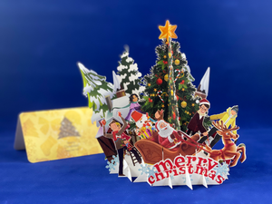 Tian's Gifts: Merry Christmas Standing 3D Card