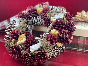 Hector Hall: Rustic Red Christmas Wreath