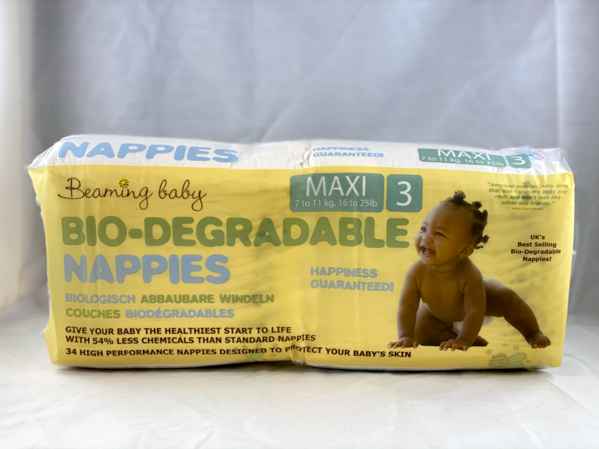 Nil Living: Biodegradable Nappies | Size 3 | Beaming Baby