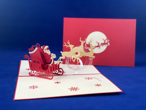Tian's Gifts: Santa in Sleigh