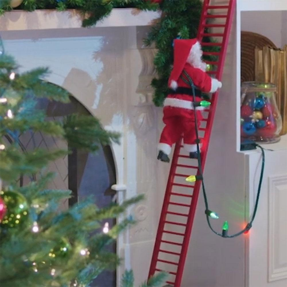 Electric Plush Ladder Climbing Santa