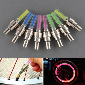 Neon Lights Color Tyre Wheel Valve Cap Light LED Lamp for Cars Motorcycles