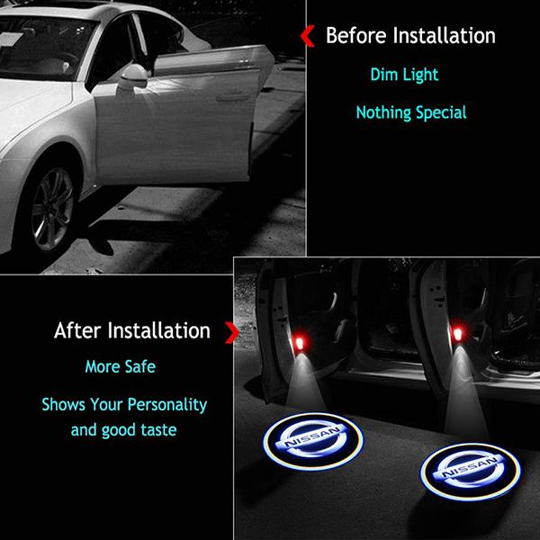 Universal Wireless LED Car Logo Welcome Light (1PCS)