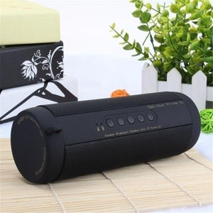 Waterproof Outdoor HIFI Column Speaker Wireless Bluetooth Speaker Subwoofer Sound Box with Flashlight Support FM Radio TF Mp3 Player Mobile Phone