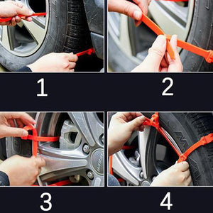 Anti-skid cable ties for new portable vehicles - Safety First!