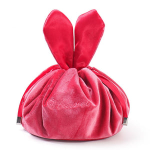 Cute Round Cotton women cosmetic bag