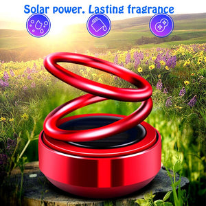 Double-ring suspension rotating solar car aromatherapy