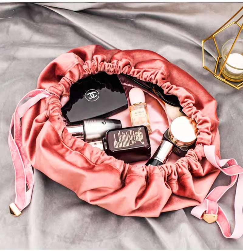 Fashion Velvet Pouch Pink Make-up-bags