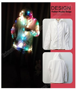 LED Party Colorful Glowing Casual Top Flashing Lights Jacket
