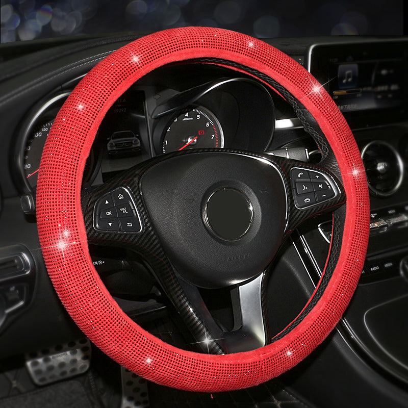 Car Steering Wheel Cover Colorful Crystal Diamond Set