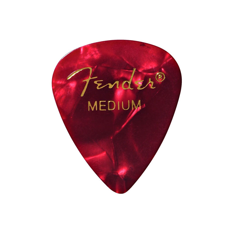 PICK FENDER RED MOTO 12PK MED