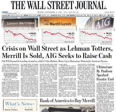 The Wall Street Journal - Crisis on Wall Street article (2007)