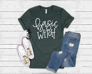 Basic Witch Halloween Fall T-Shirt