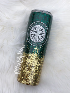 Baylor Physical Therapy Ombre Glitter Tumbler
