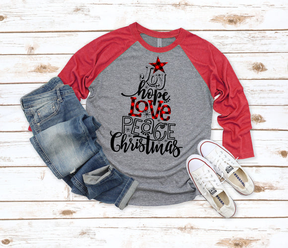 Christmas Tree Words Shirt