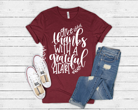 Give Thanks With a Grateful Heart Fall T-Shirt