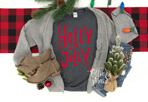 Holly + Jolly Christmas Shirt