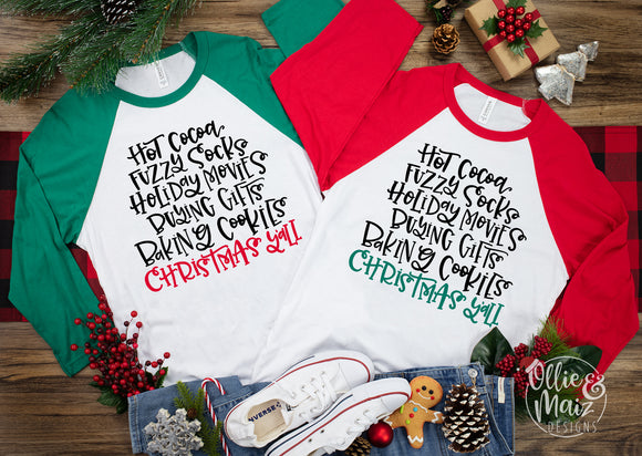 Hot Cocoa, Fuzzy Socks, & More Christmas Shirt