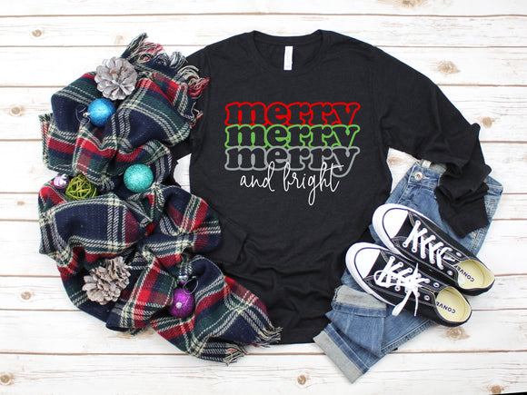Merry & Bright Trio Shirt