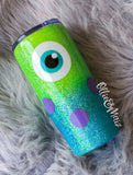 Monsters Inc. Inspired Glitter Tumbler