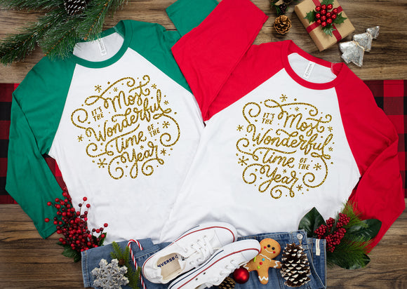 Most Wonderful Time of the Year Swirly Christmas Shirt