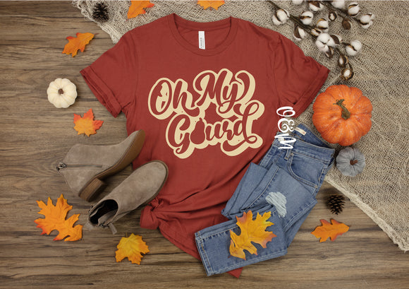 Oh My Gourd Retro Fall T-Shirt