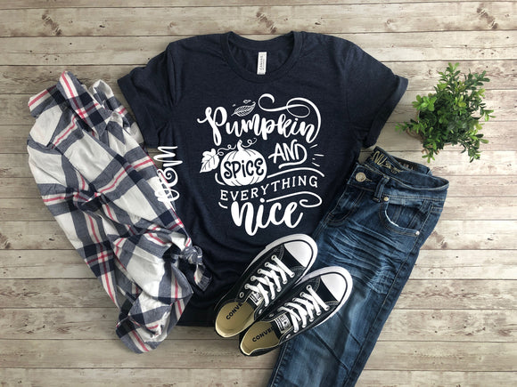 Pumpkin Spice & Everything Nice Fall T-Shirt