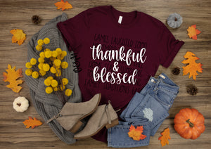 Thankful & Blessed Fall T-Shirt