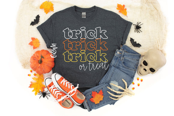 Trick or Treat Triple Halloween T-Shirt