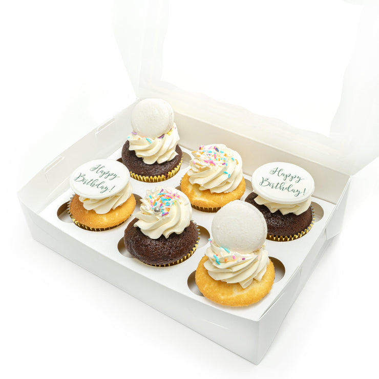Birthday Cupcake Box