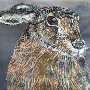 Blossom and Wither Art Original Hare (Framed)
