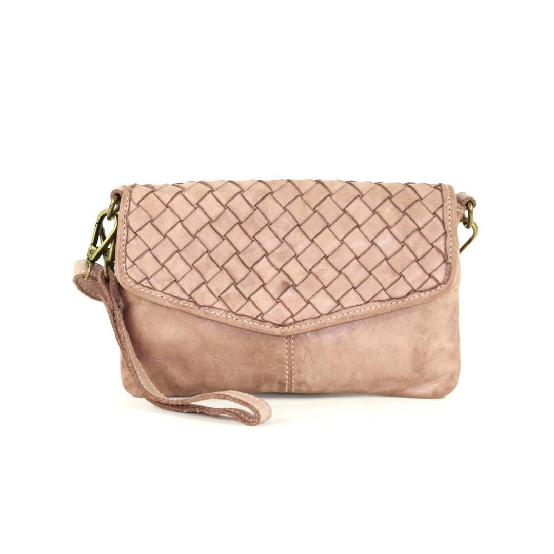 The Leather Mob Selene wristlet with long strap