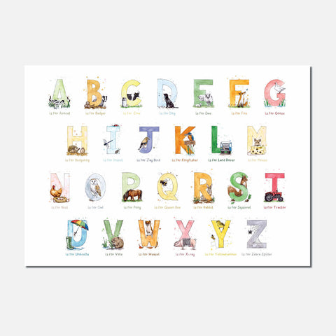 Eleanor Tomlinson Art Countryside Themed Full A-Z Signed Limited-Edition Print
