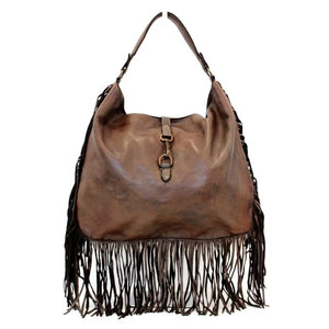 The Leather Mob Ambra fringed bag