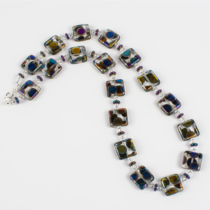 Ruth Haldon Square Multi-Spot Necklace