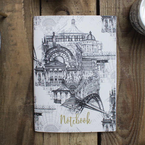 Rhianne Sian Designs Newcastle Upon Tyne A5 Lined Notebook