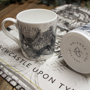 Rhianne Sian Designs Newcastle Upon Tyne Bone China Mug