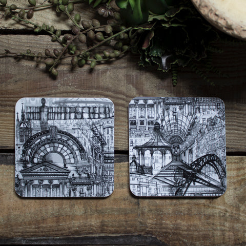 Rhianne Sian Designs Newcastle Upon Tyne Coaster Set