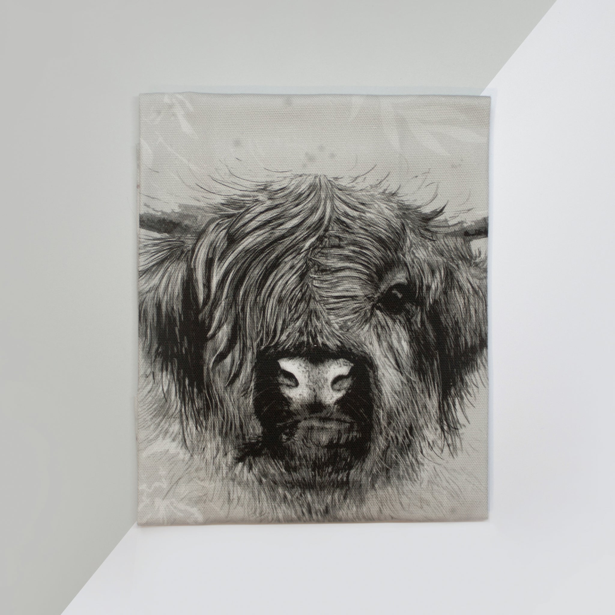 Rhianne Sian Designs Highland Cow Cotton Tea Towel