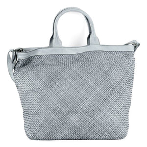 The Leather Mob Chiara woven large tote bag