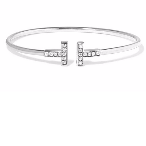 Silver Secrets Sterling Silver T Bangle