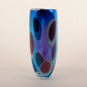 Jane Charles Glass Spots and Stripes Vase