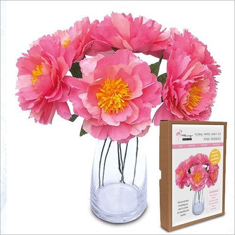 Flamingo Paperie Peonies Floral Craft Kit