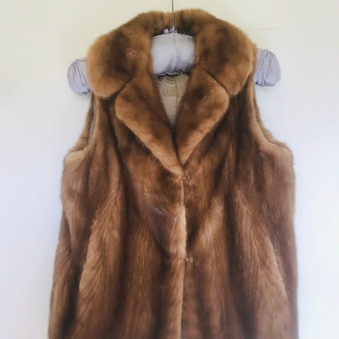Lovage and Lace Preloved Vintage Mink Gilet